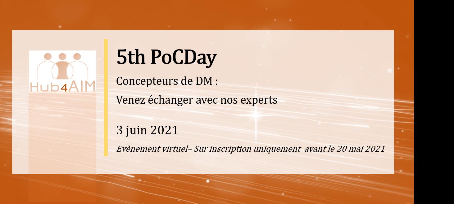 5e Poc Day Hub4AIM – 3 juin 2021 (évènement en ligne)